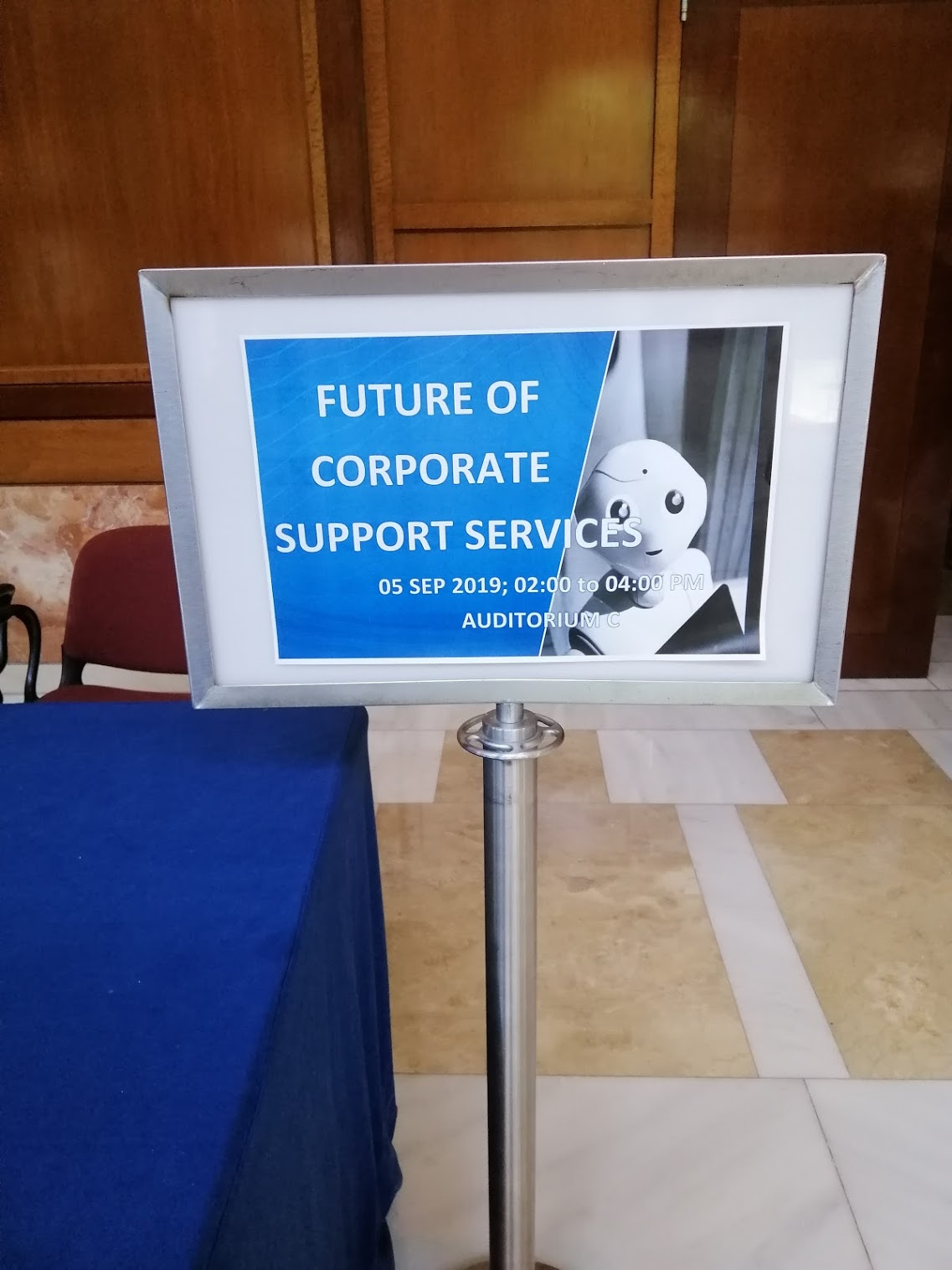 2:04 p.m. - In parallel, the Future of Corporate Support Services has begun!
