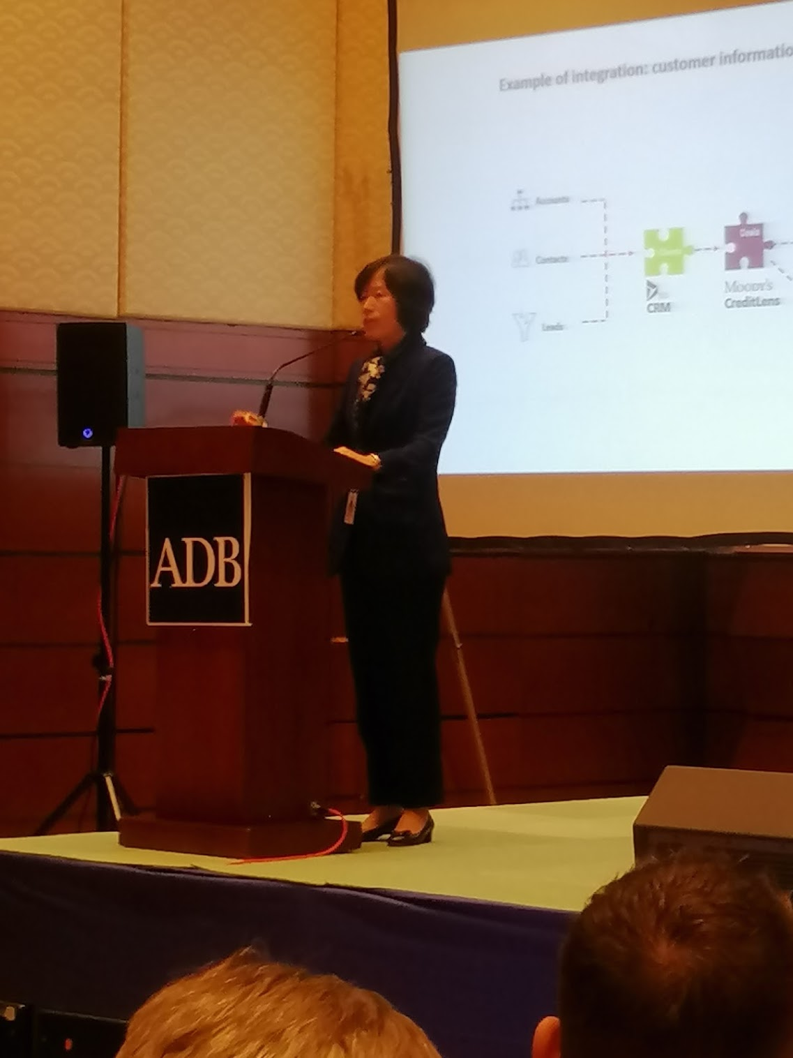 2:07 p.m. - Risa Teng, DG, PPFD, ADB, goes in depth with the existing systems and their integration.