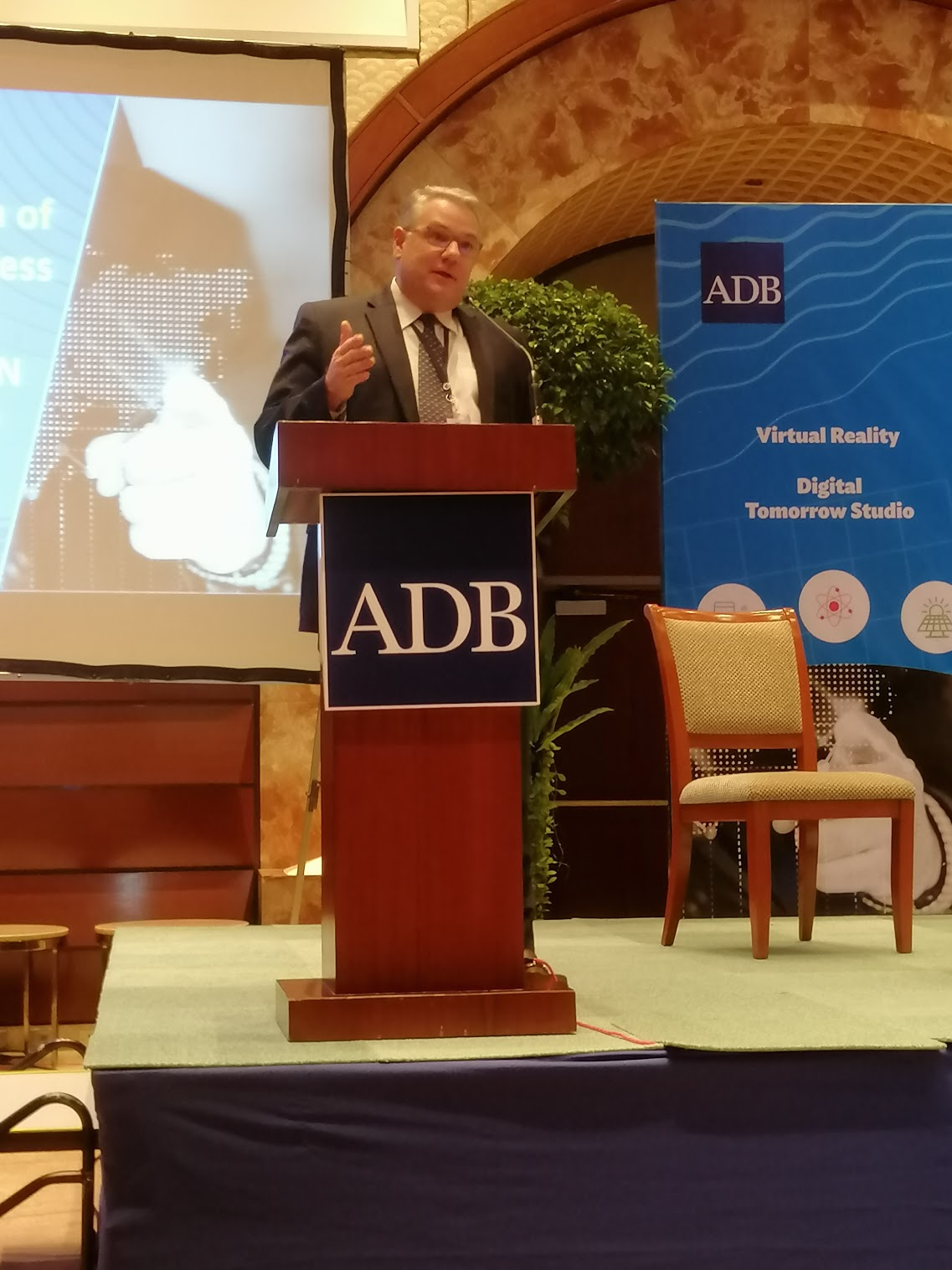 """3:45 p.m. - """"Knowledge formation is about learning.""""Albert Atkinson, DOC, talks about Channeling ADB's Stream of Consciousness for Future Stories from ADB"""