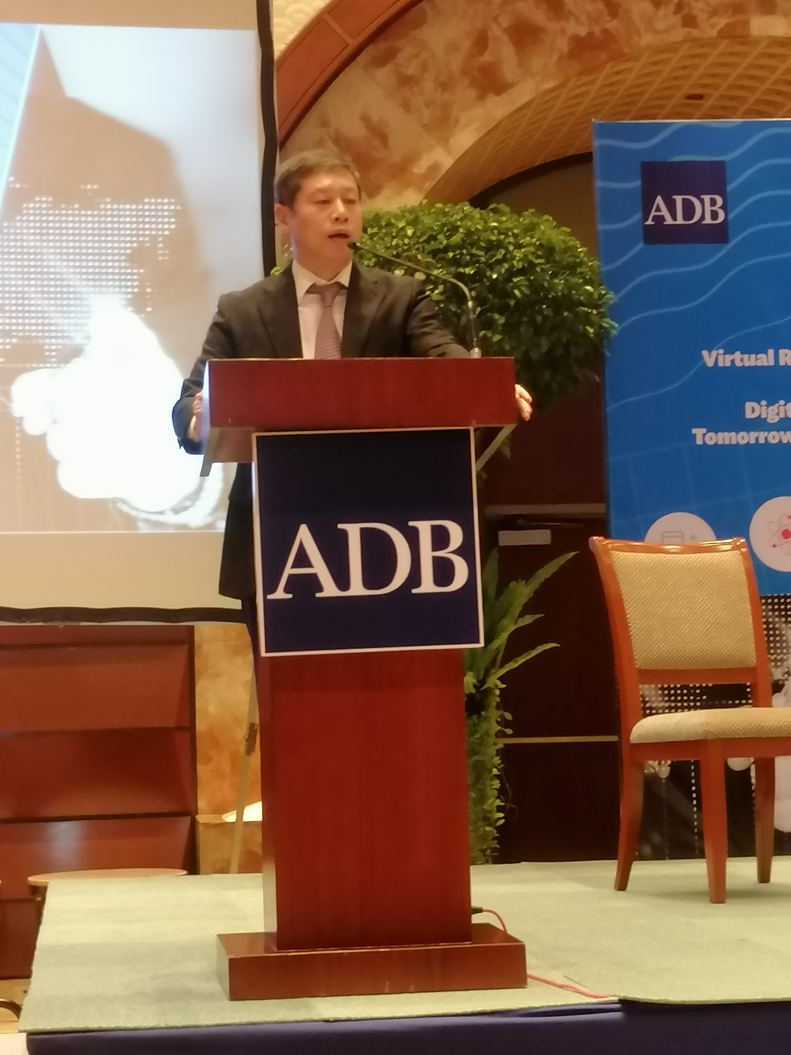"""4:11 p.m. - """"We can think of how technological development is affecting the e-commerce in the region.""""A continuation of Future Stories from ADB, Jong Woo Kang, ERCD, discusses Embracing the e-Commerce Revolution in the Asia and the Pacific."""