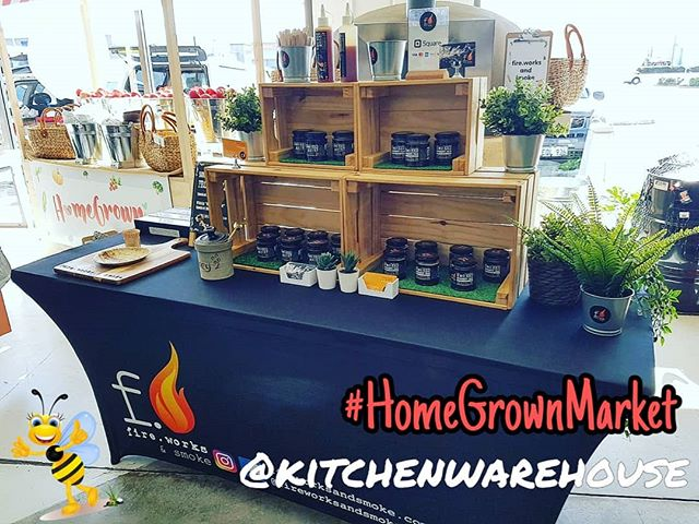 All set up @kitchenwarehouse Osborne Park for the #homegrownmarket! We're here today from 11am - 2pm along with a host of other local artisan producers. Come down, say hi and try some samples! 🍯 🧡 🐝