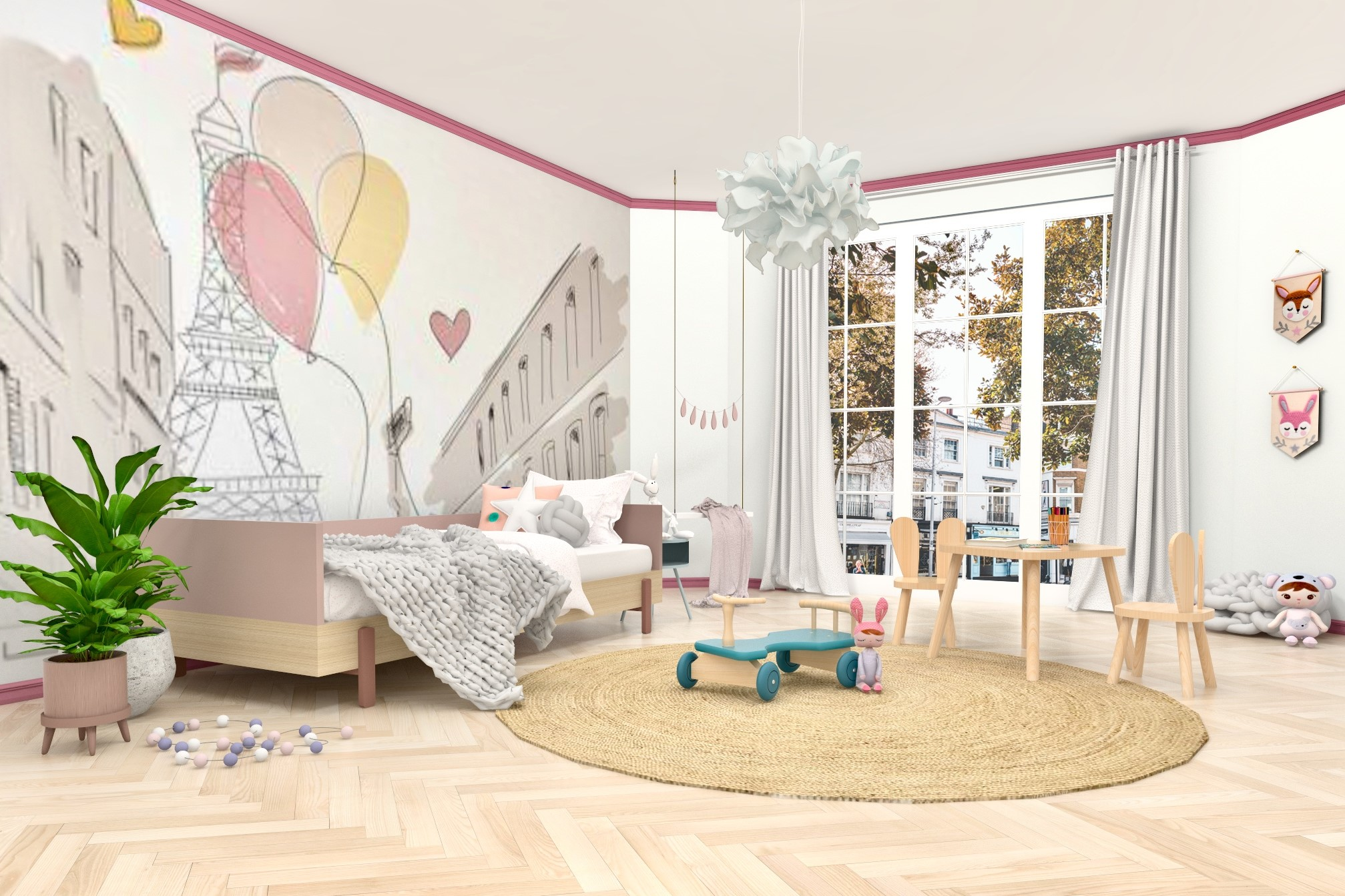 Whimsical Girl's Bedroom Design by Eklektik Studio