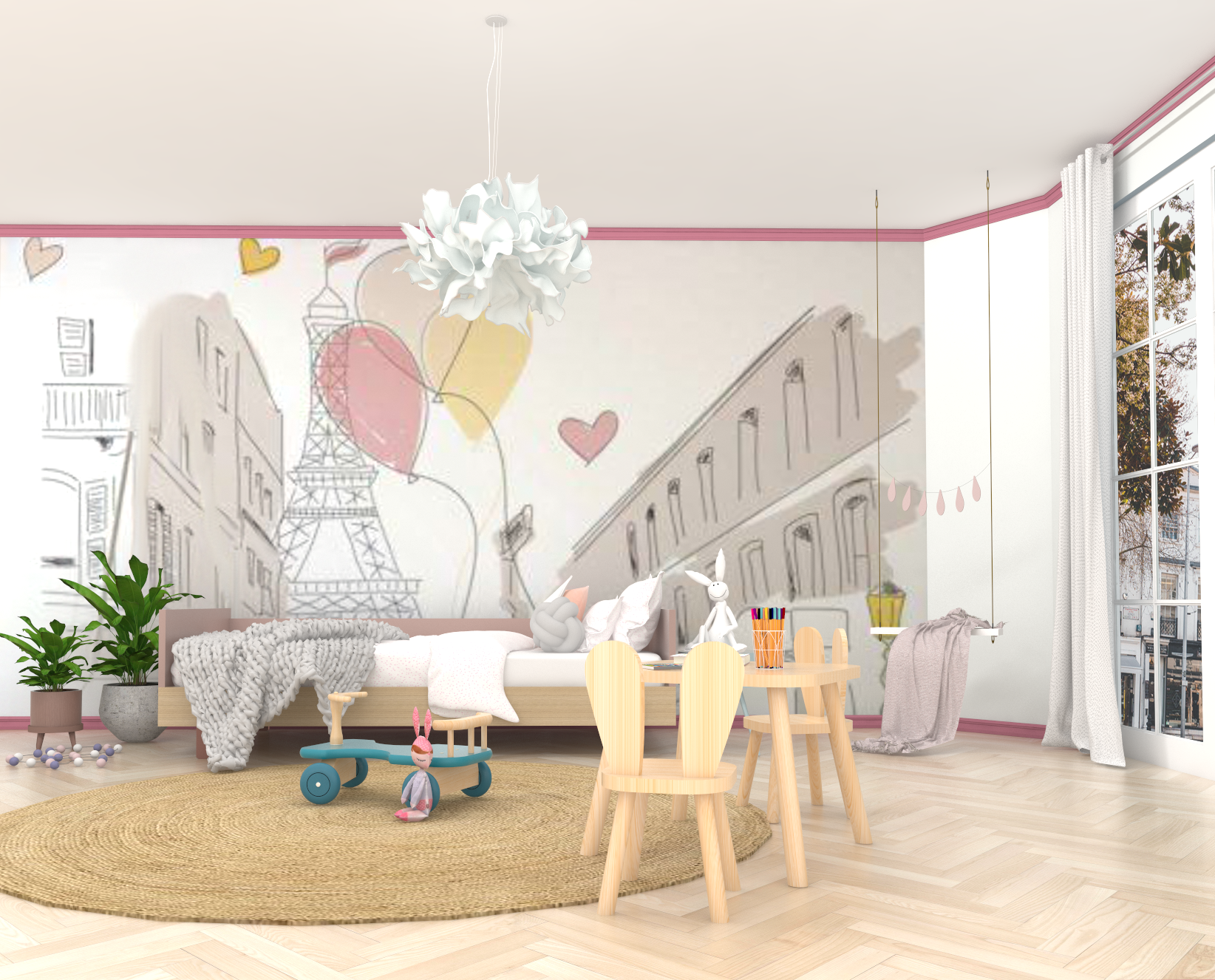 Pink Girl's Bedroom