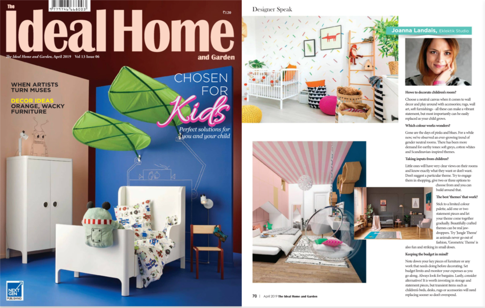 Designer Tips: Designing Child's Bedroom: Ideal Home April 2019