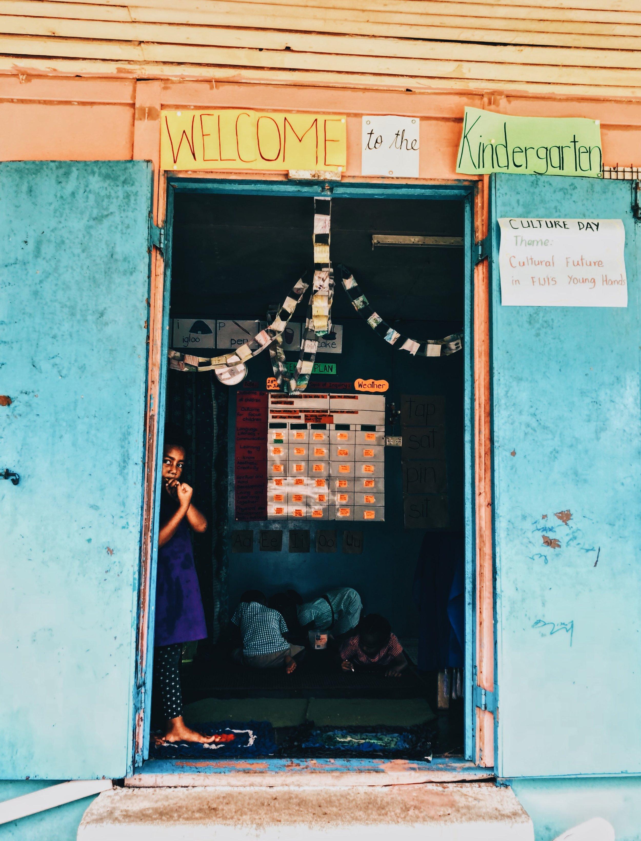 Naar school op Fiji -