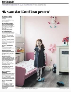 'Ik wou dat Knuf kon praten' - Portret van een kind in haar slaapkamer. Deze week: Amber Elberse (5).