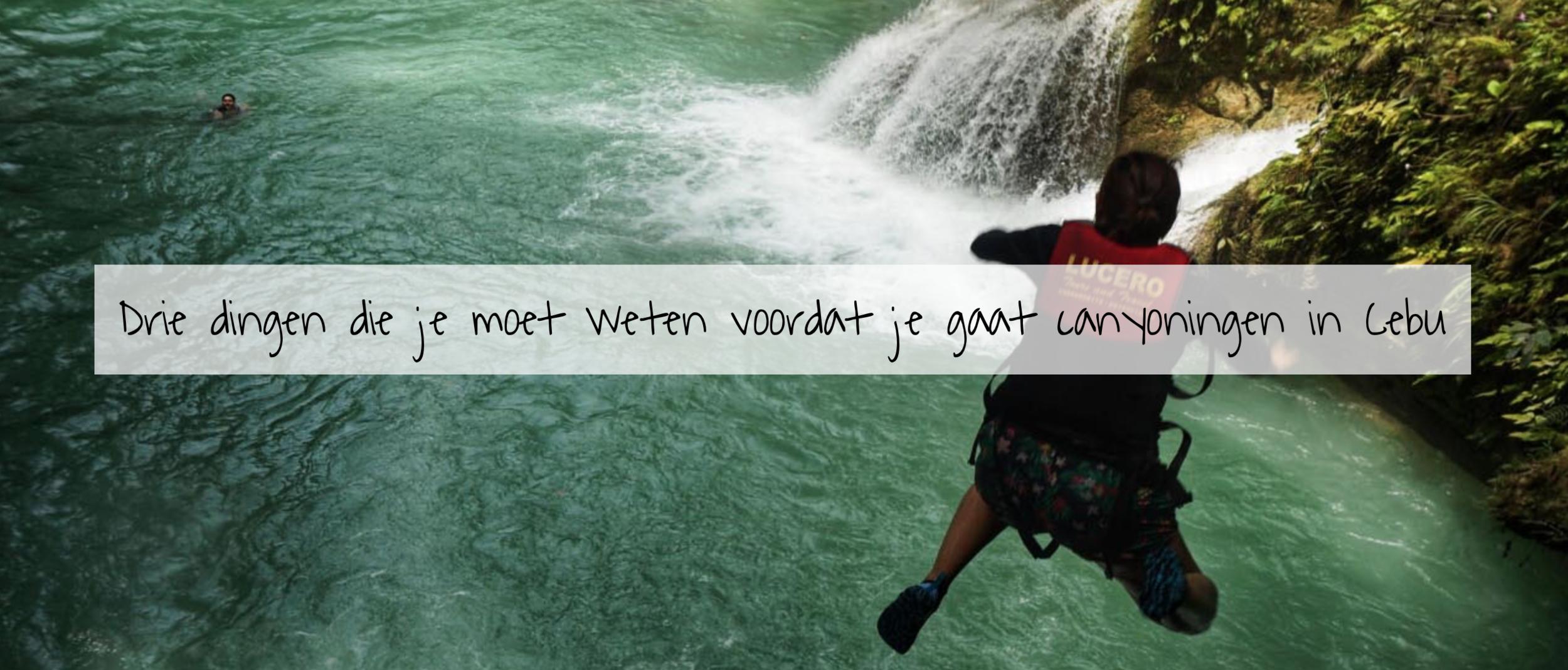 Drie dingen die je moet weten voordat je gaat canyoningen in Cebu - De Kawasan-watervallen behoren tot de bekendste highlights van het Filipijnse eiland Cebu, met name vanwege de omvang en het helderblauwe water. Een unieke manier om de watervallen te ontdekken is via canyoning; een sport waarbij je de waterval naar beneden volgt door te klimmen, zwemmen en – natuurlijk – springen.