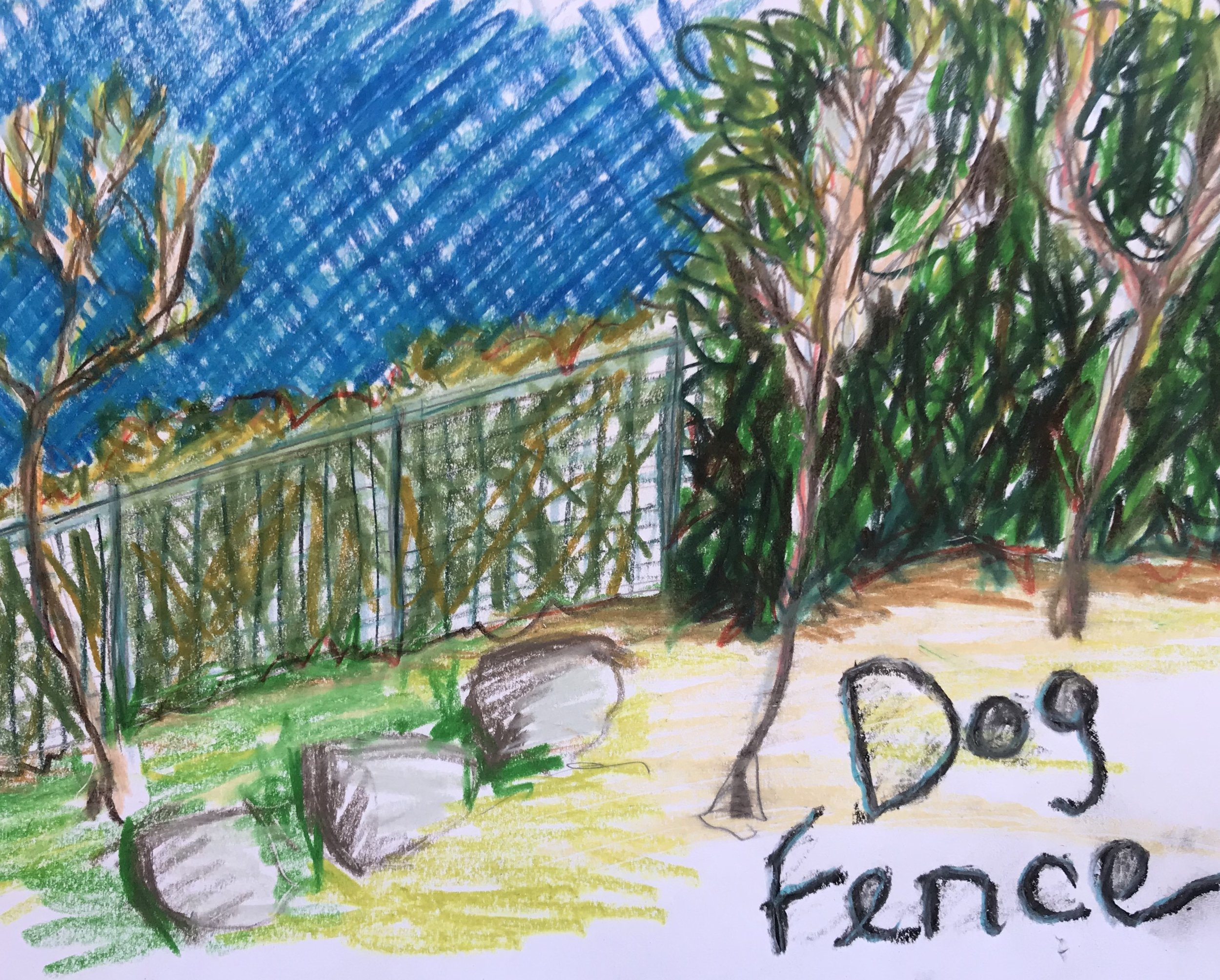 Dog Fence across the hedges of il Poggiolo…