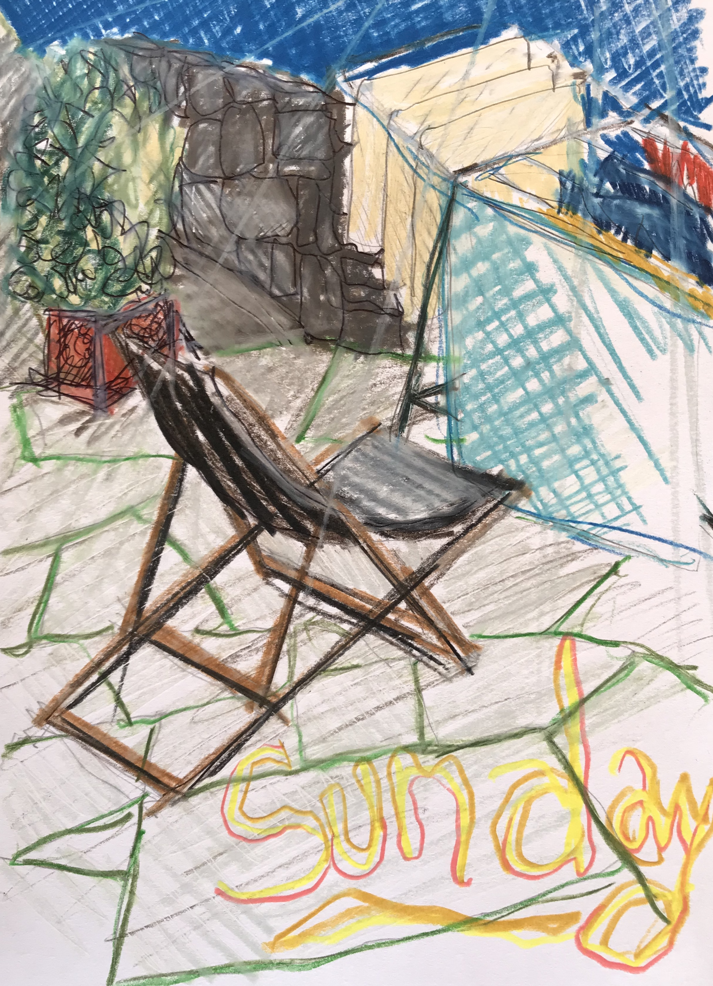 Sun chaise and laundry on a Sunday afternoon…