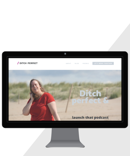 Squarespace webdesign for Ditch Perfect, www.ditchperfect.com