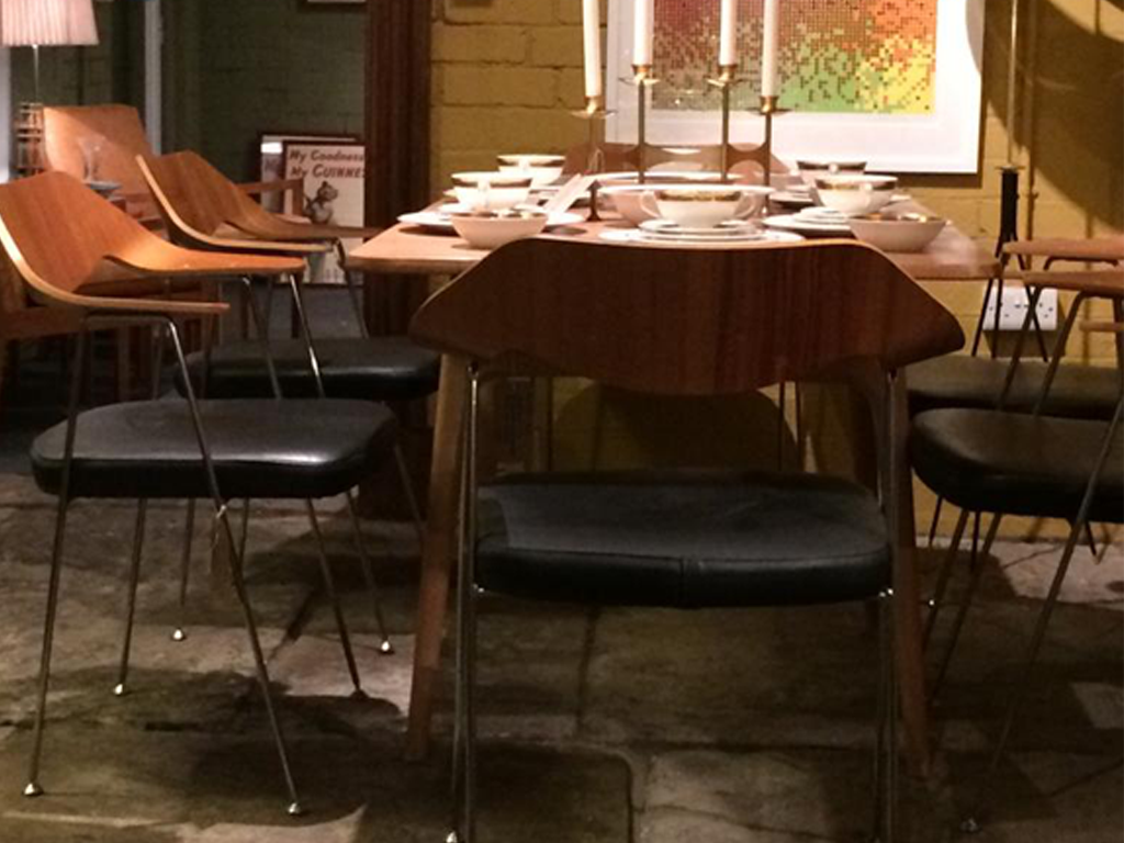 Robin Day chairs with Alfred Cox Dining Table.