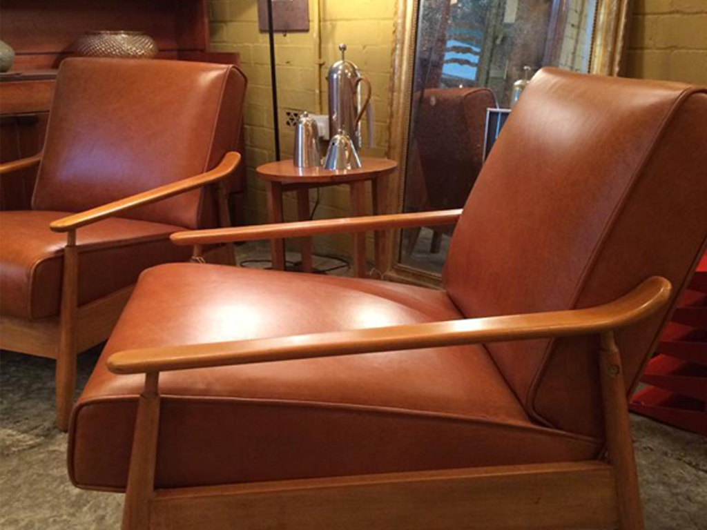 1960s Restored lounge chairs by Scandart.