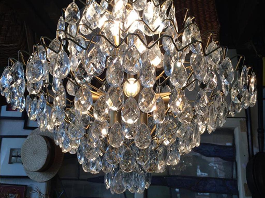 Italian crystal chandelier. Italy.