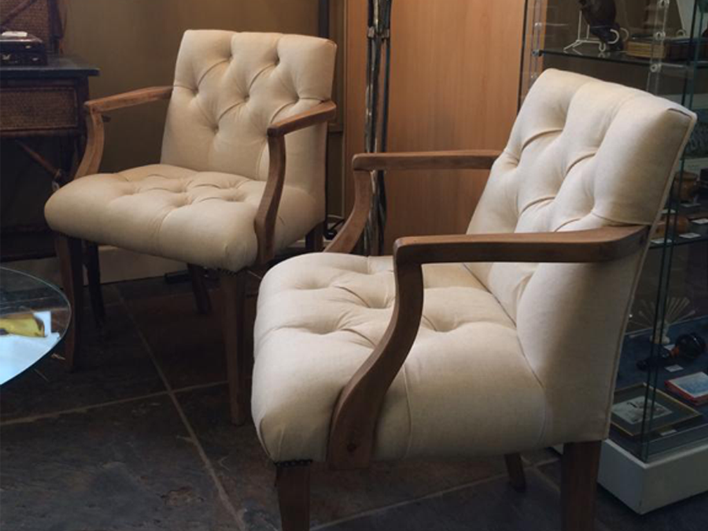 Pair of 1940s restored Swedish side chairs