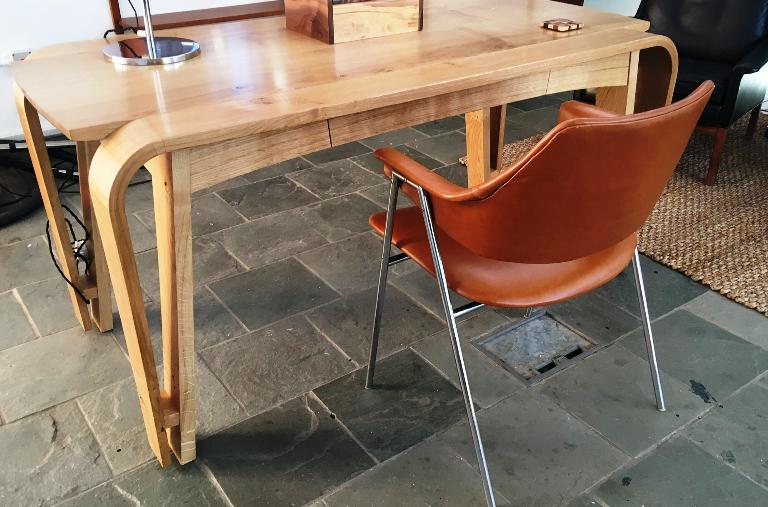 Pierre Paulin for Thonet desk chair in steel