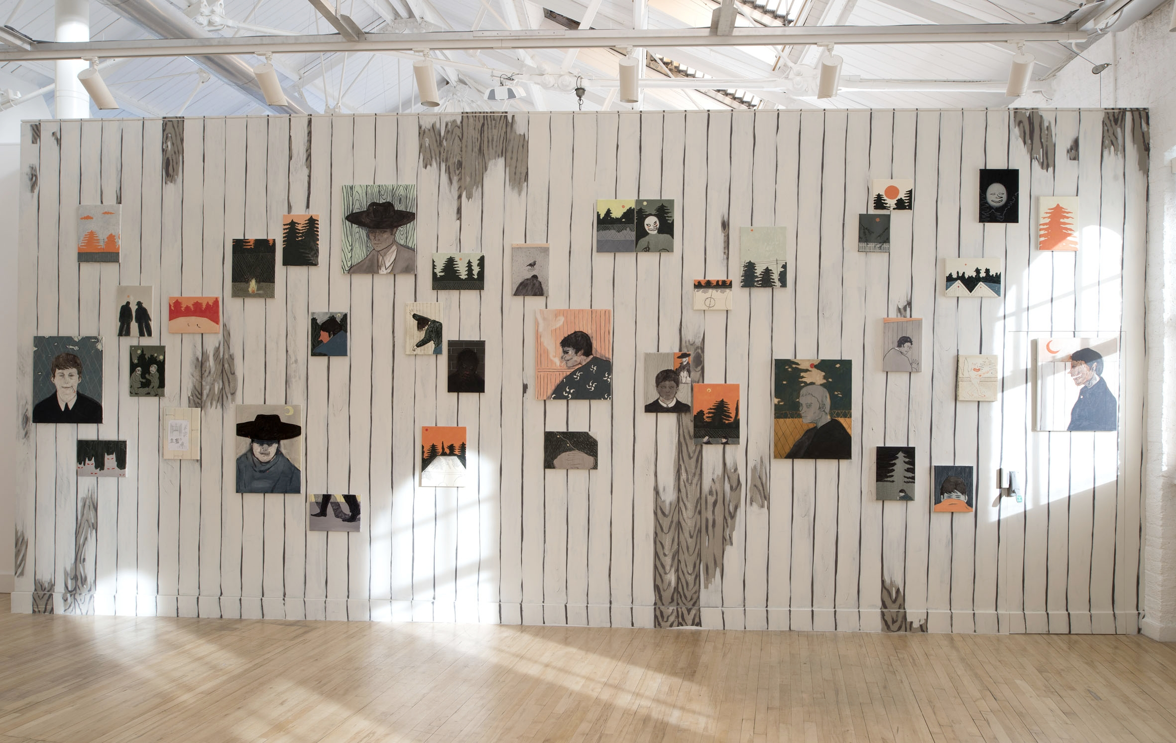 Installation view:  The Burning Plain  by Francisco Rodriguez at Cooke Latham Gallery