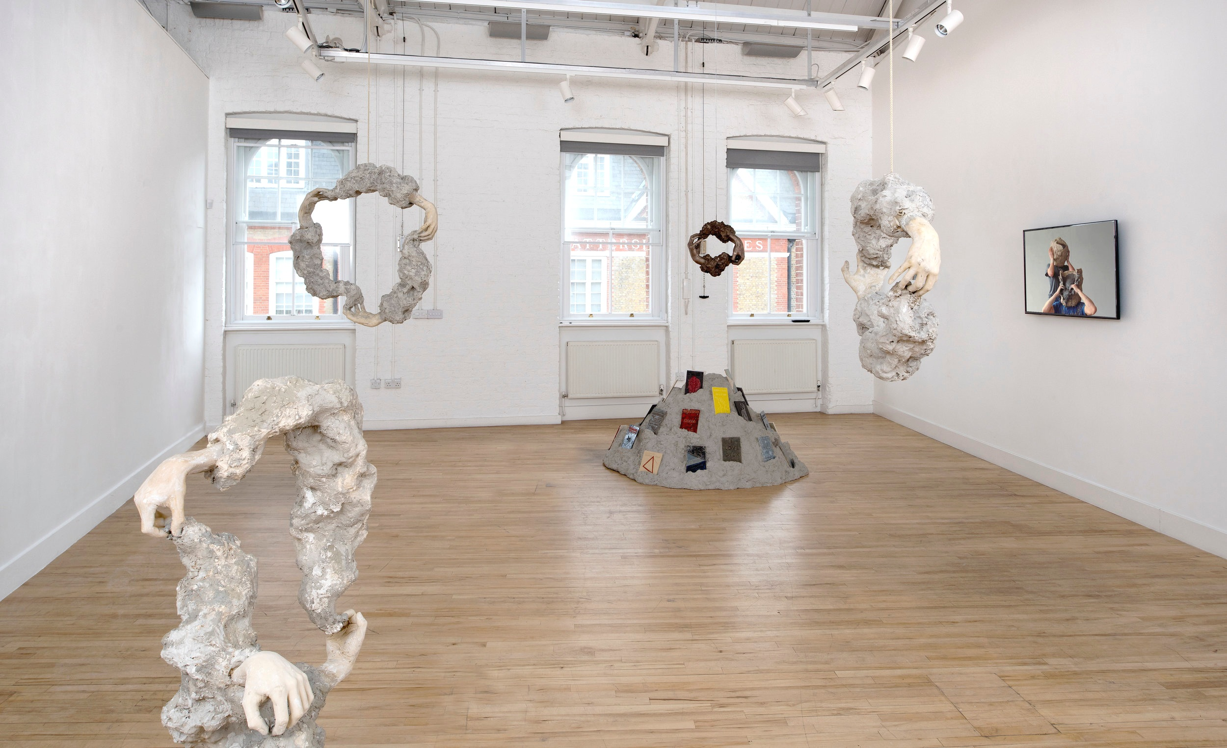 Installation view:  Haptic Loop  by William Cobbing at Cooke Latham Gallery