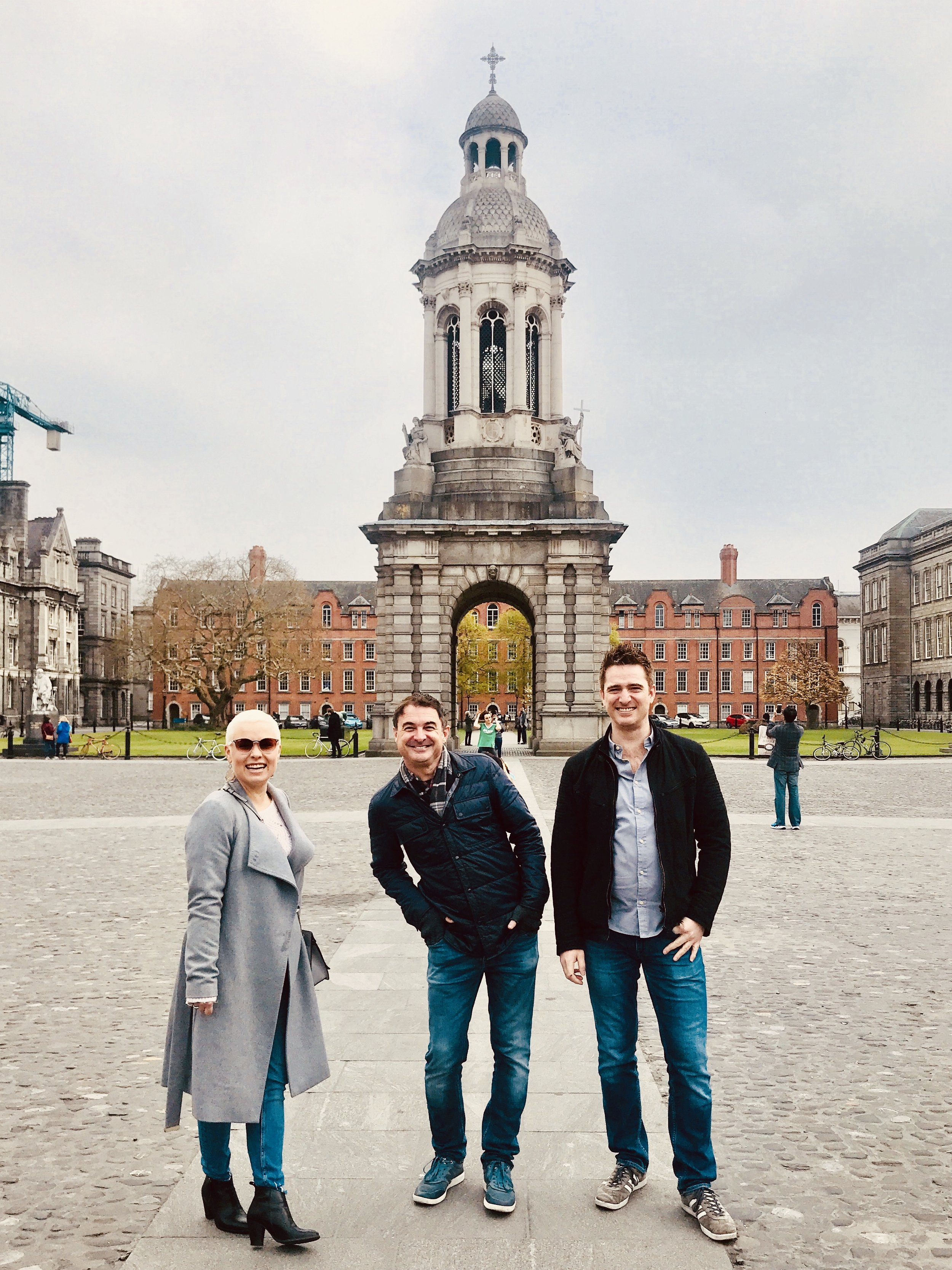 My partner  snapped this photo during our walk through Dublin's Trinity College with our favorite Londoners. According to my Gyroscope data, I totaled 301,331 steps during those four weeks or around 10,762 steps a day walking and exploring the city, nearly double my daily average.