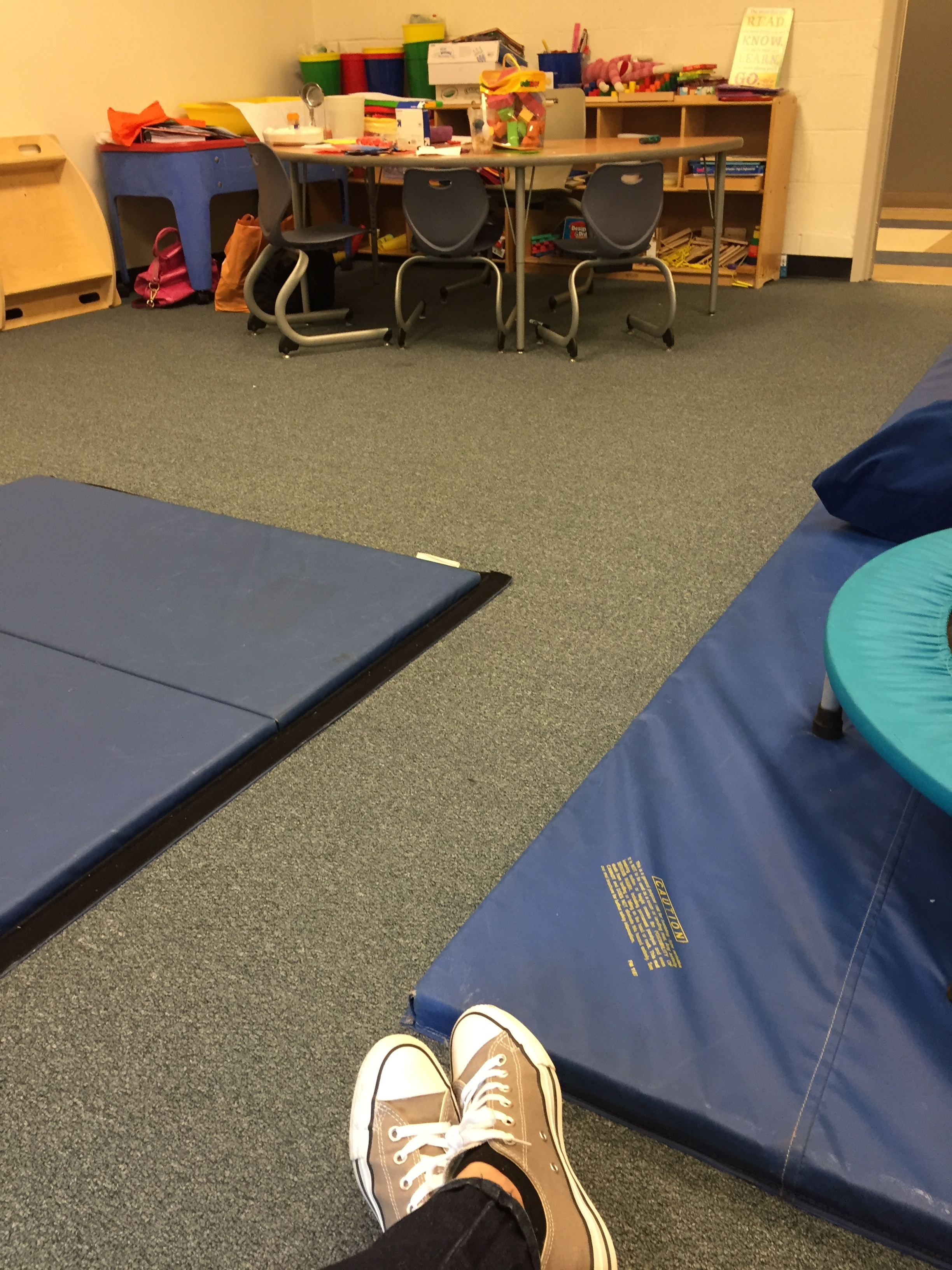 What my OT treatment room looked like at my school in Washington, DC.