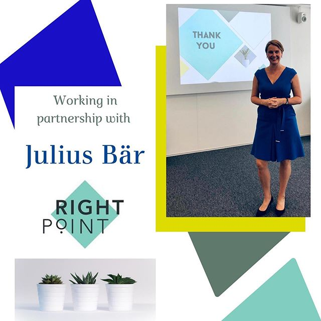 Delighted to announce my newest corporate client @bankjuliusbaer who have invited me to design and deliver corporate training workshops for their employees #corporatetraining #business #banking #makingadifference #grateful #clientappreciation #womeninbusiness #rightpointconsulting