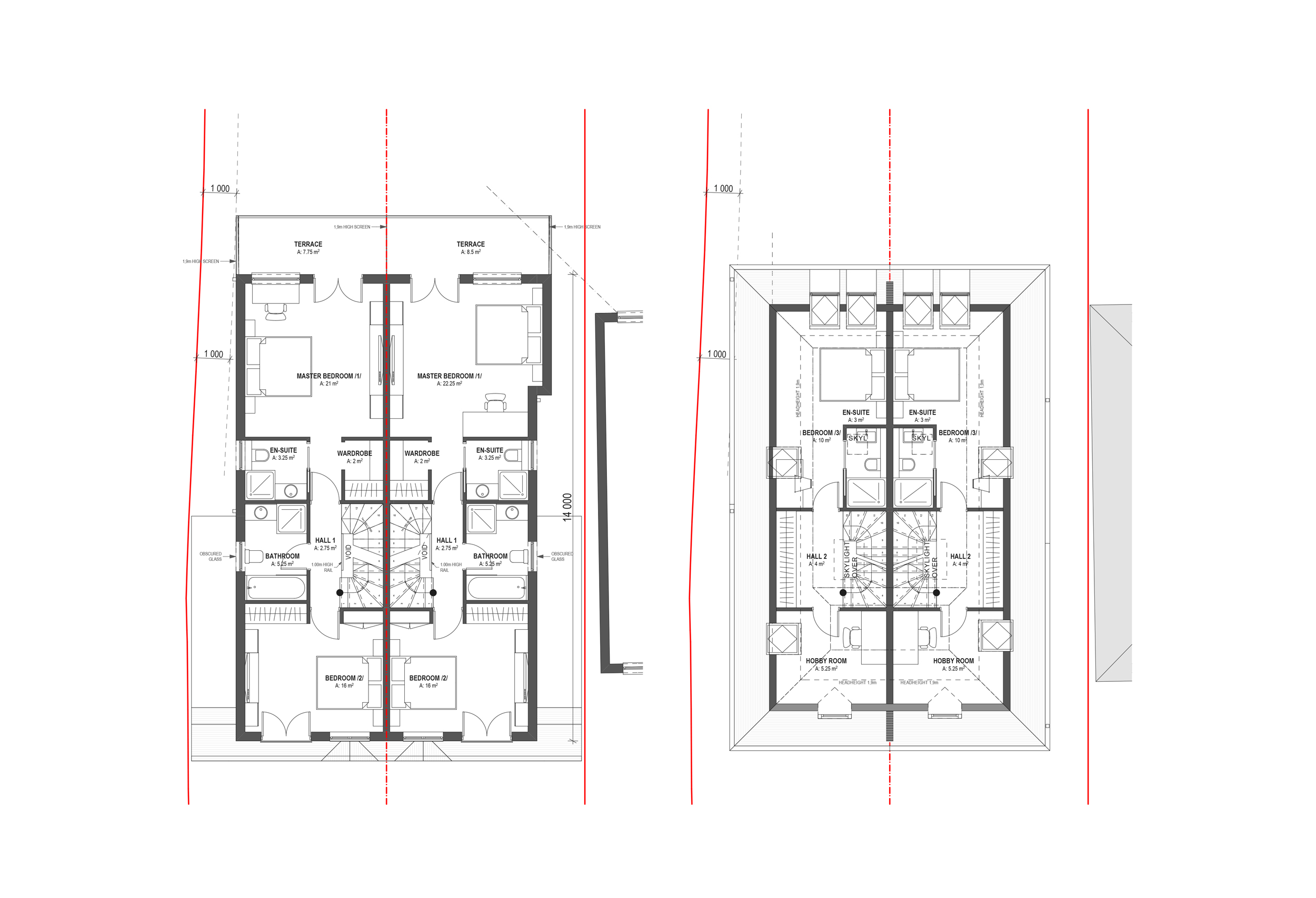 PROPOSED FIRST AND SECOND FLOOR PLAN