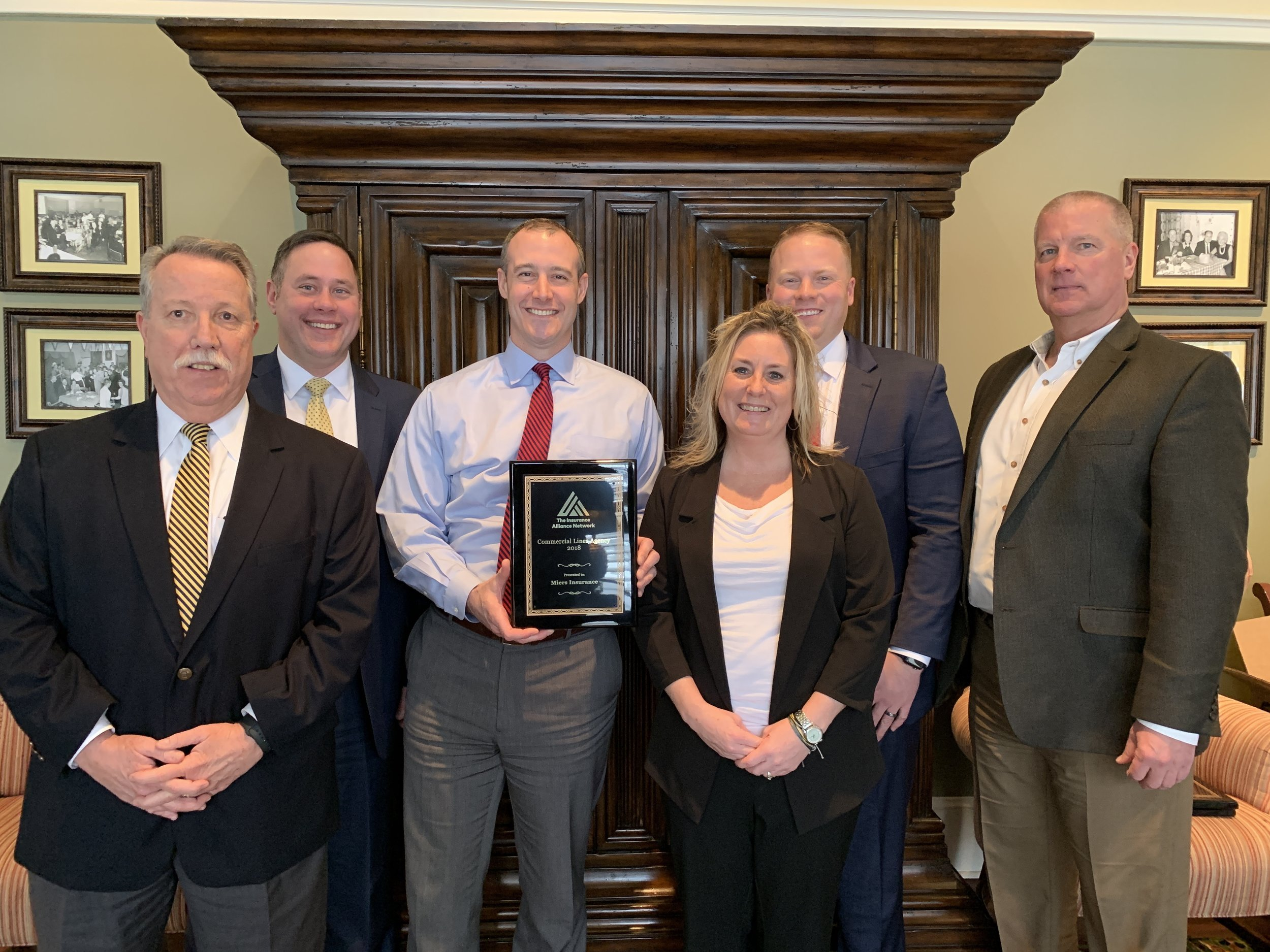 Miers Insurance was honored as the 2018 Commercial Lines Agency of the Year.