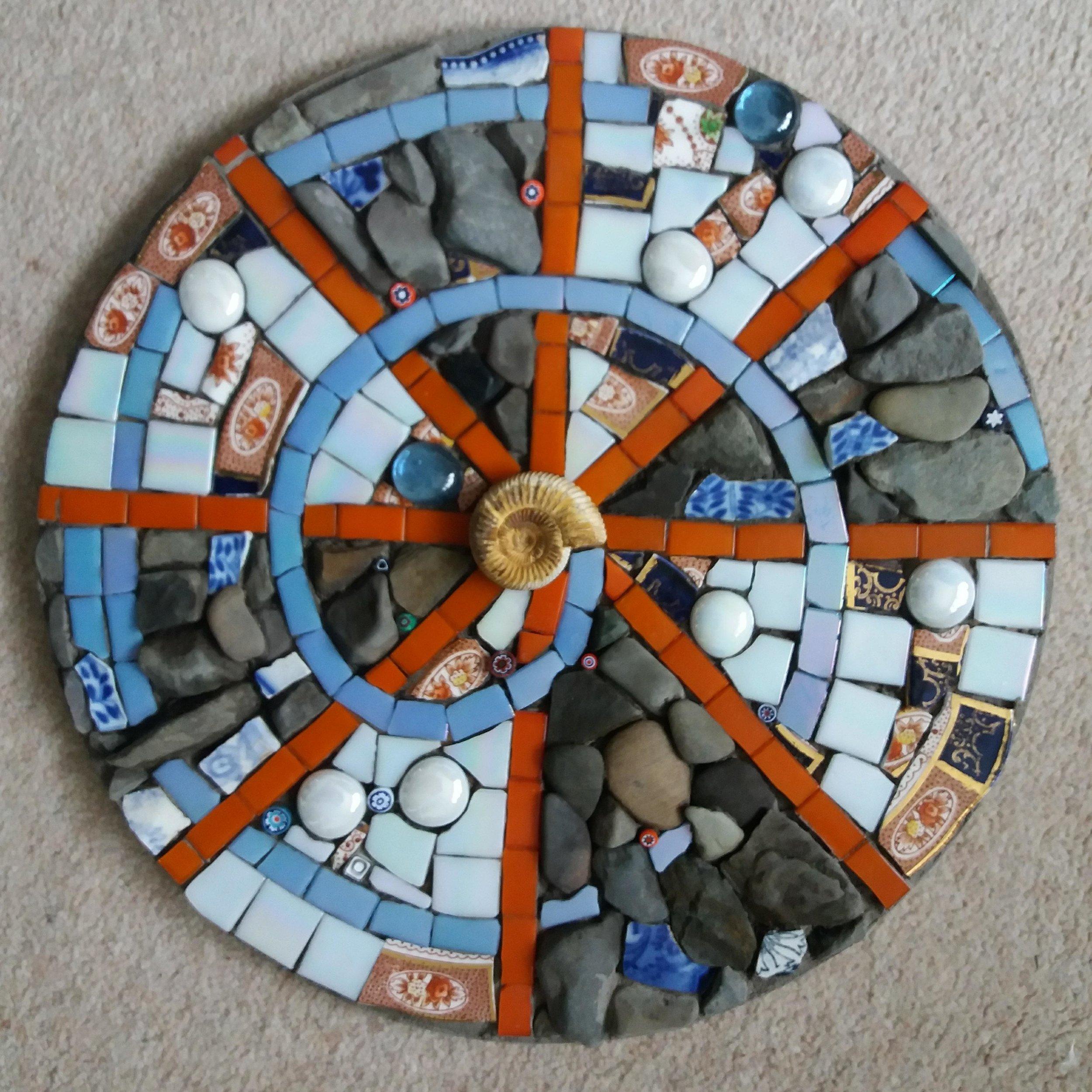 Spiral Mixed Media Mosaic