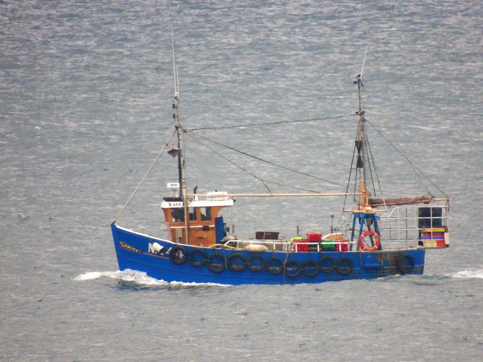 AMITY N444   Type: Crab/ Prawn Trawler  Size: 10.57m  Built: 1989; Portavogie