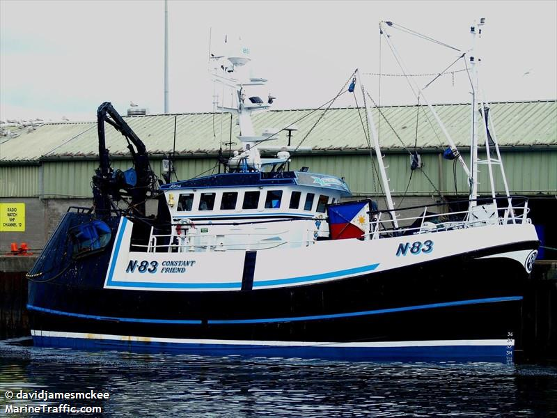 CONSTANT FRIEND N83   Type: Stern Trawler  Size: 16.34m  Built: 1994; Macduff Shipyards
