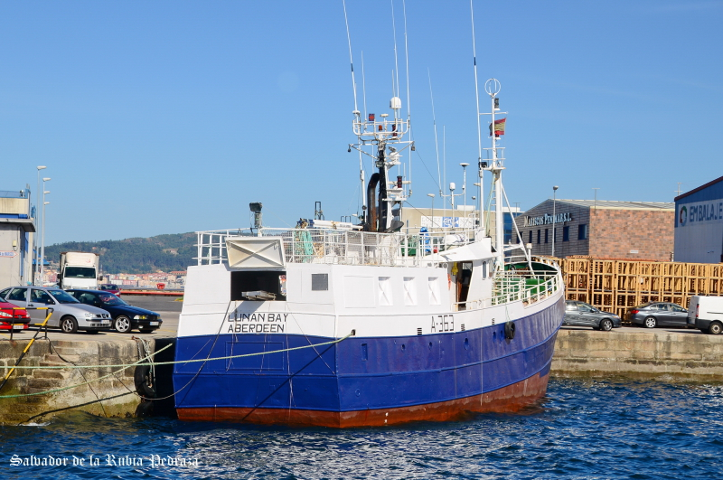 LUNAN BAY A363   Type: Metal Hull Trawler  Size: 29.1m  Built: 1970; Vigo Spain