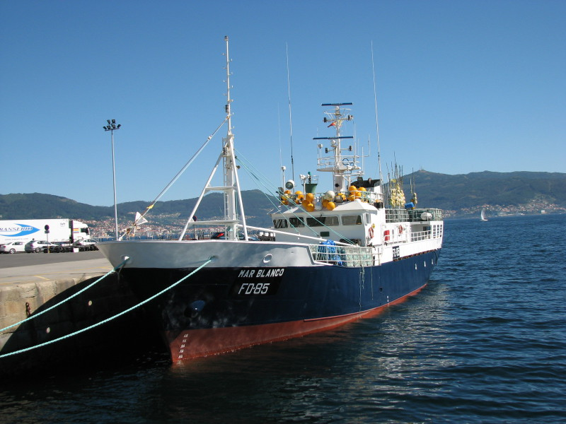 MAR BLANCO FD85   Type: Metal Hull Trawler  Size: 39.8m  Built: 1989; Santander