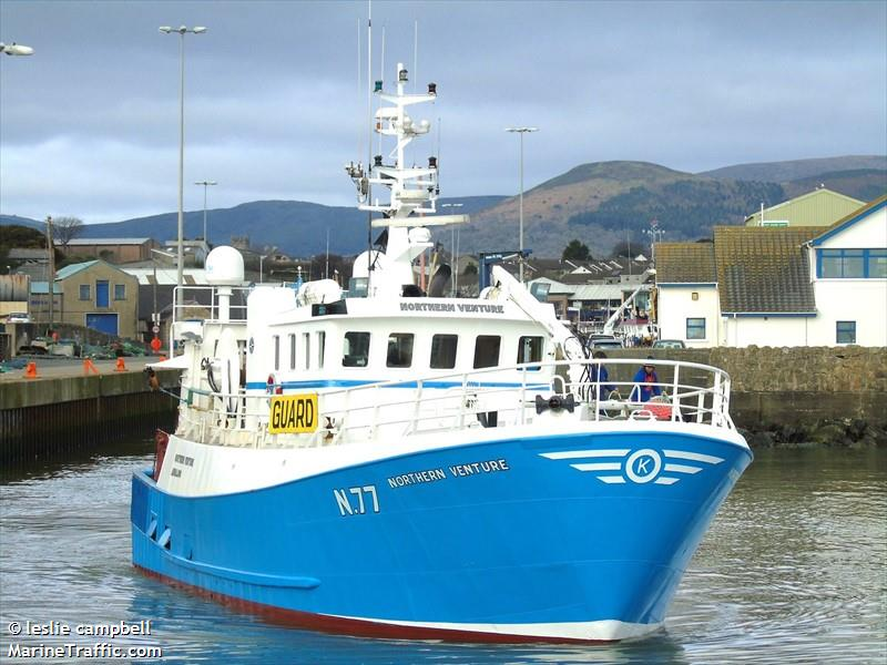 NORTHERN VENTURE N77   Type: Metal Hull Trawler  Size: 19.9m  Built: 1982; Co. Cork