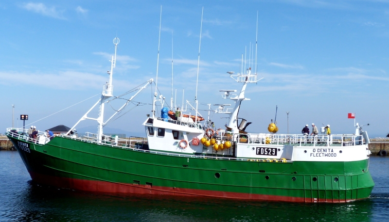 O'GENITA FD529   Type: Metal Hull Trawler  Size: 33.3m  Built: 1977; Spain