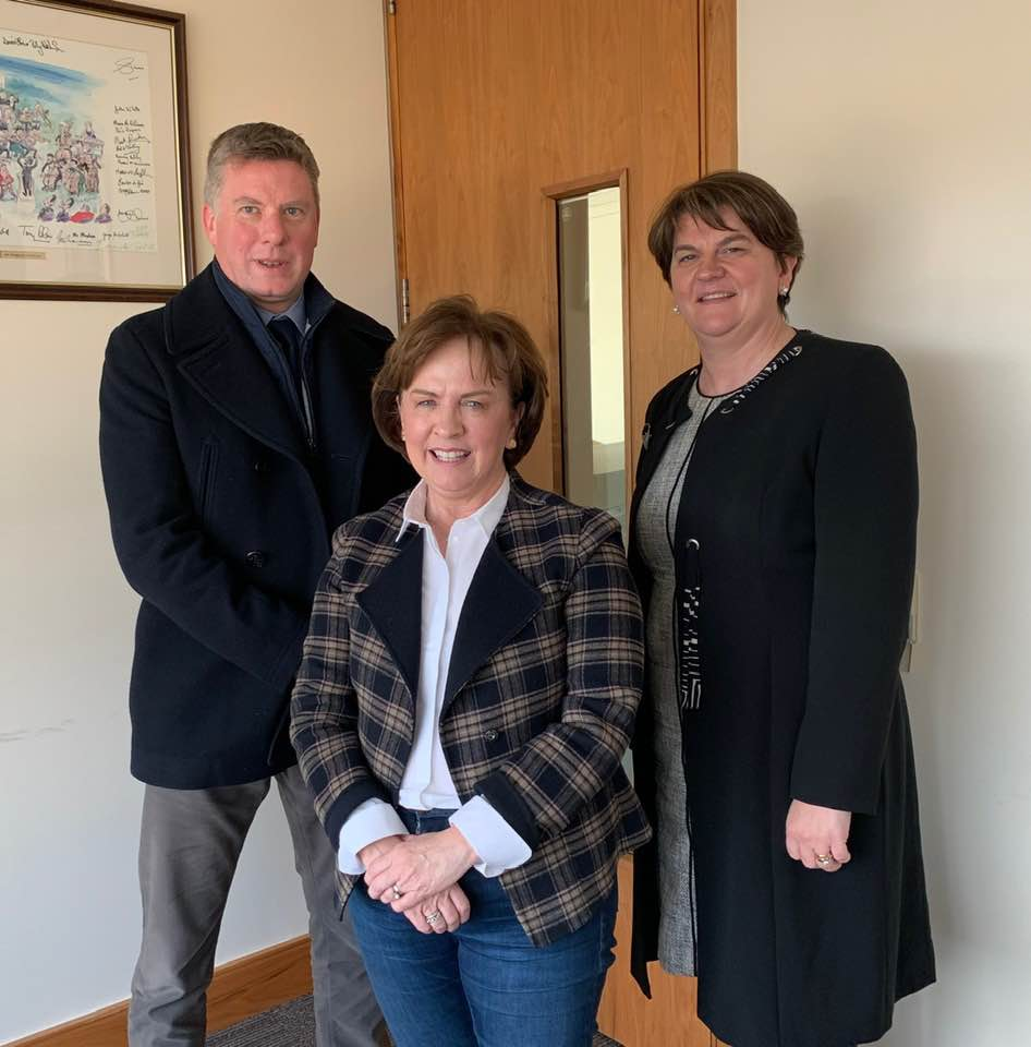 "Discussing Brexit - Our CEO, Alan met with DUP Leader Arlene Foster MLA & Diane Dodds MEP on 30th November 2018 to discuss NI fishing priorities - Crewing & immigration issues, Dublin's hard sea fisheries border and Brexit. ""Nothing is agreed until everything is agreed."" Difficult to welcome or condemn a UK/EU Fish Agreement we don't have."