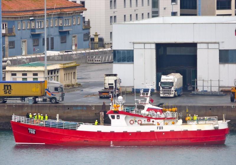 BRISAN FD9   Type: Metal Hull Trawler  Size: 35.70m  Built: 1961; Aberdeen