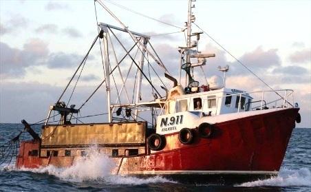 COWRIE BAY N911   Type: Scalloper/ Trawler  Size: 15m x 5m  Built: 1973; Stone Staffordshire