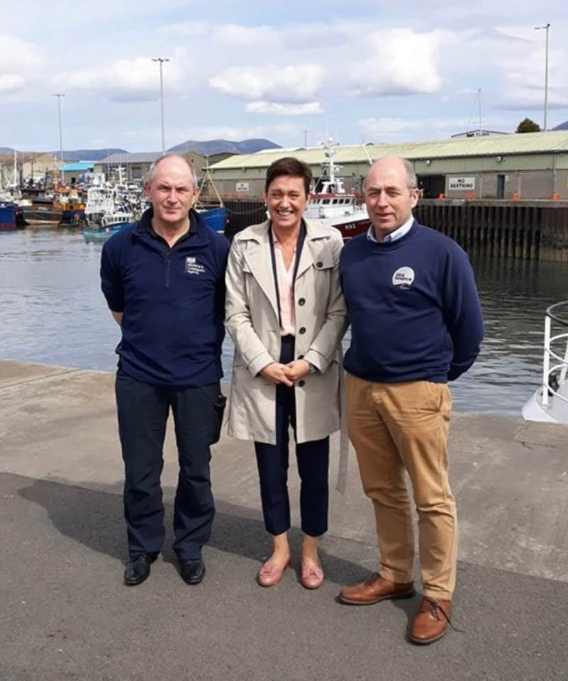 MCA VISIT TO KILKEEL   POSTED: 22/05/2019  Katy Ware is the Maritime & Coastguard Agency's Director of Maritime Safety and Standards. Katy is also the Permanent Representative for the UK to the UN's International Maritime Organisation - IMO.  We were delighted to host the Director in Kilkeel on Wednesday 22nd May 2019 to discuss examples of best practice in fishing vessel safety and crew welfare.