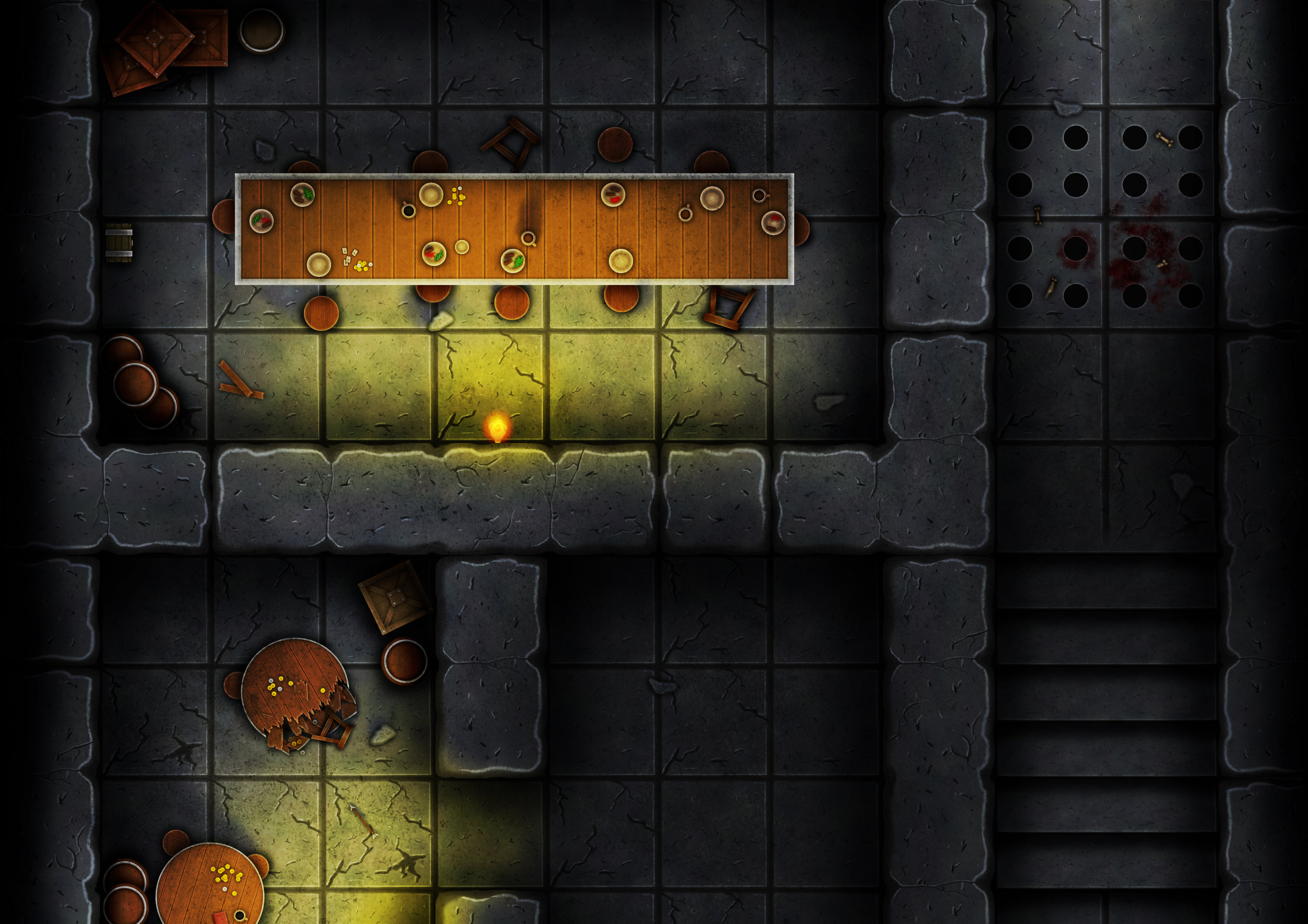 A piece of a free Dungeon Battle Map that you can find in our store!!