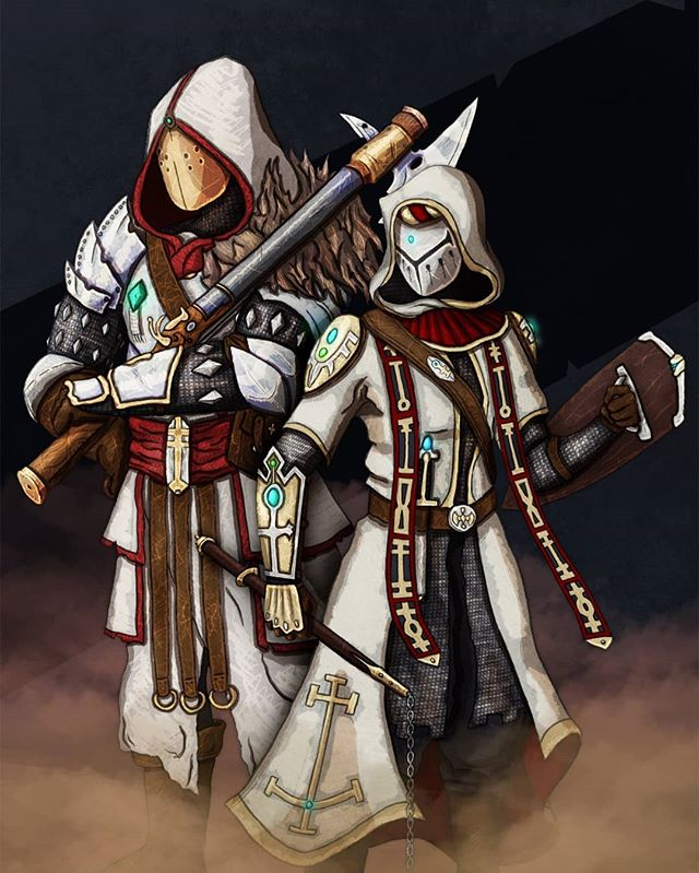 Inquisitors: Inquisitors research and hunt demonkin, including their great foes known as Dæmons. They are usually heavily armoured warriors, but there are a few scouts among them that spy on th demonkin; watching their movements and studying their patterns, waiting to strike.  The Kaldori Project Kickstarter: https://www.kickstarter.com/projects/veris/the-kaldori-project-for-tabletop-roleplaying  #dnd #dungeonsanddragons #dnd5e #art #fantasy #fantasyart #kaldori #characters #characterart #rpg #tabletopgames #kickstarter #crowdfunding