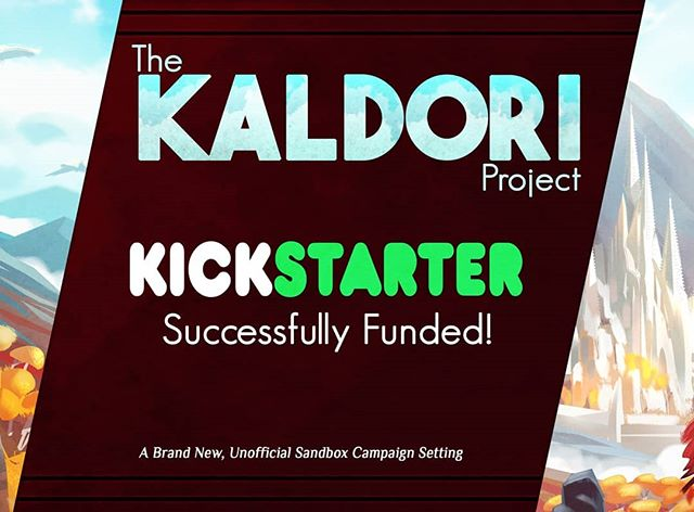 The Kaldori Project Kickstarter successfully funded!  We successfully surpasses our $5,500 NZD goal and managed to raise $5,969 to put towards funding the project. This is just the start of our funding process however, as we'll still need to find other avenues to help bring this project to fruition!  #kickstarter #dnd #dungeonsanddragons #dnd5e #crowdfunding #crowdfundingcampaign #kaldoriproject #kaldori #roleplay #roleplaygames #rpg #boardgames