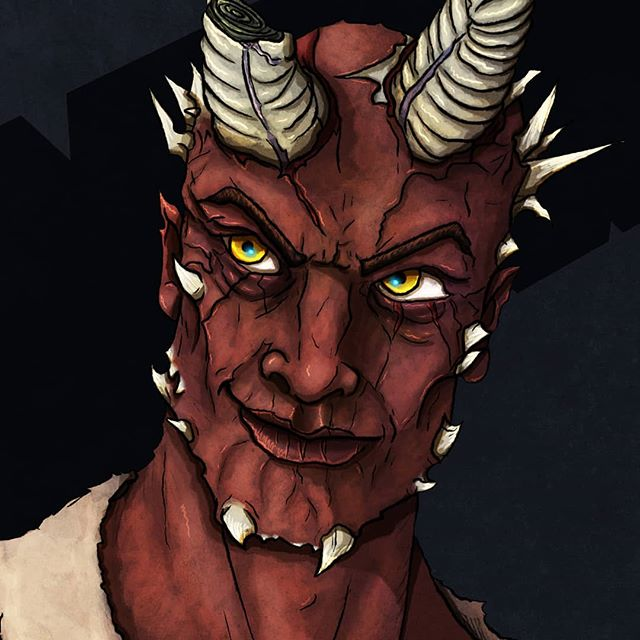 Characters and their histories are just as important in 'Kaldori: The Second Age' as the world itself!  #art #dnd #dnd5e #dndart #fantasy #tiefling #villain #dungeonsanddragons #kaldori #kaldoriproject #roleplaygames #roleplay #boardgames #games #horns #fantasyart #characterart #characters #portrait #portraitart