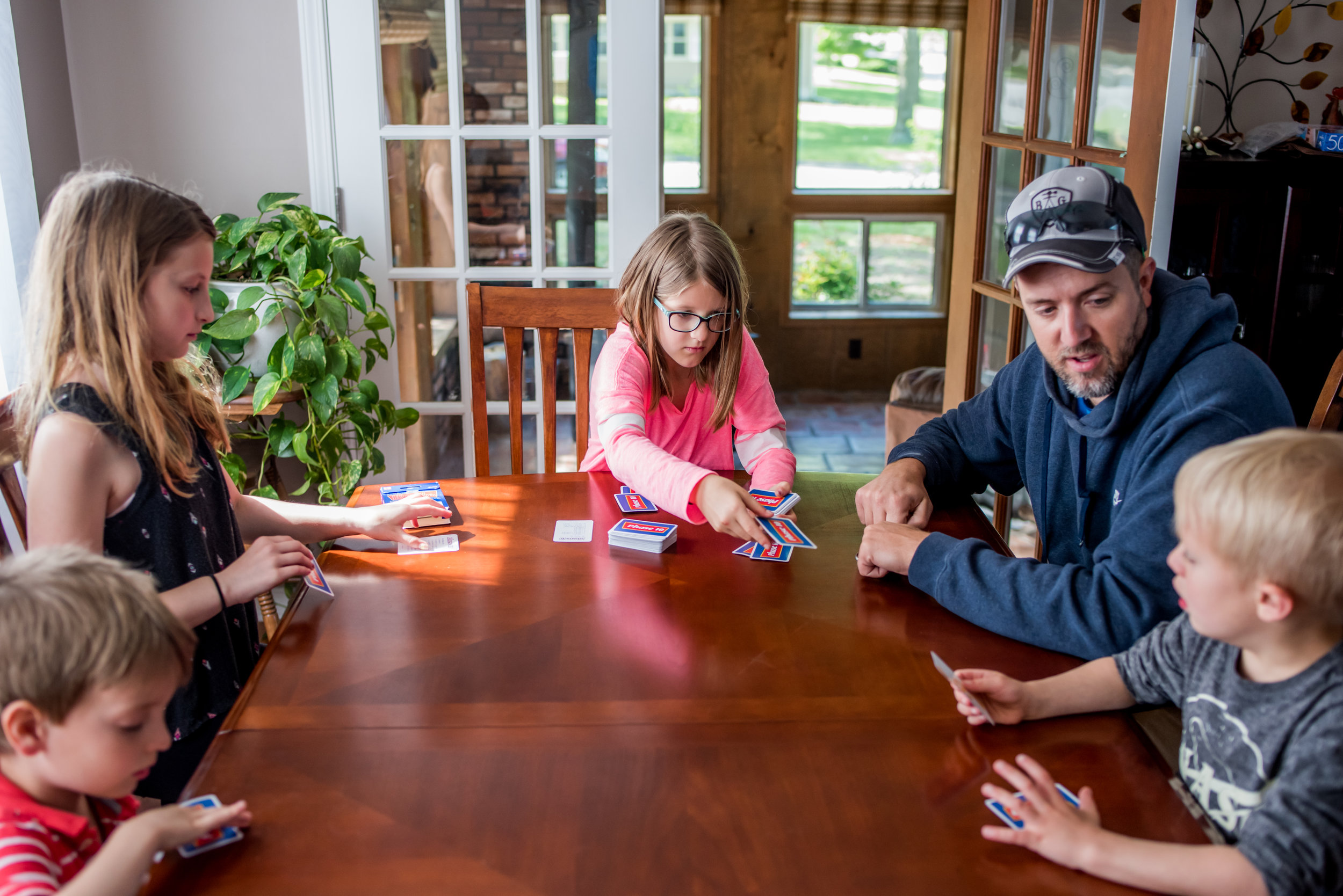 Lots of card games going on when we were with the family.