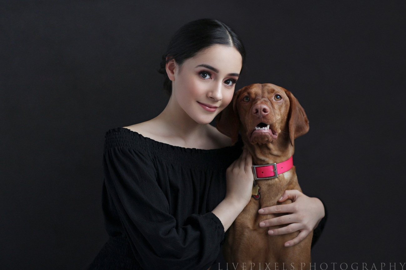 Oakville photo studio - portrait of a girl and her dog.jpg