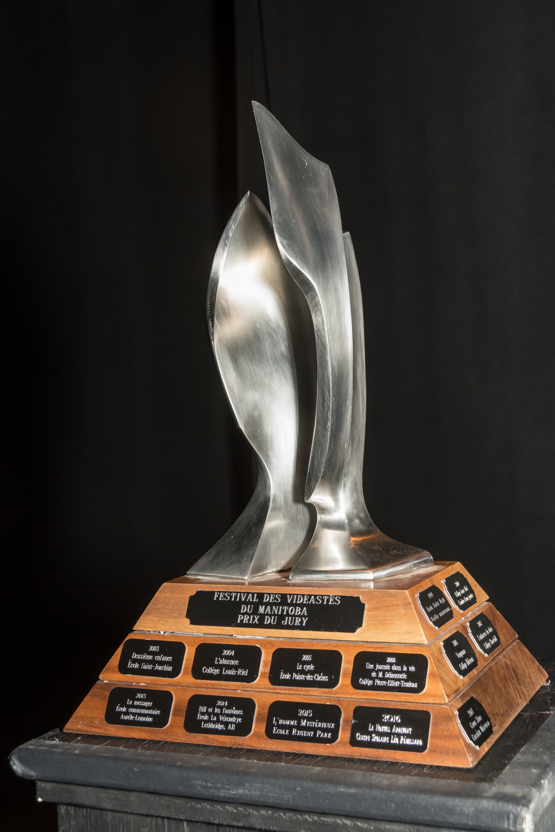 Le trophée du Festival des vidéastes du Manitoba -