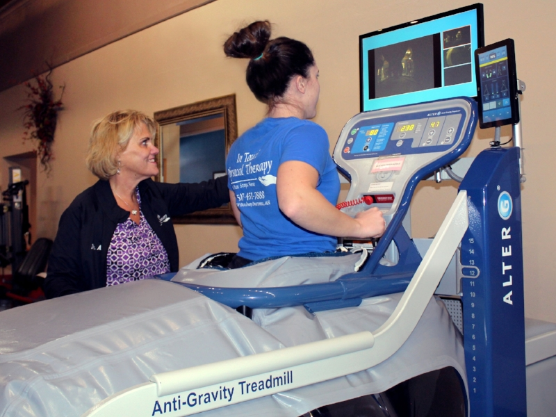 ALTER g (Anti-Gravity Treadmill) - In Touch Physical Therapy owns the only AlterG® in Southern Minnesota open to the public. The AlterG® is an Anti-Gravity Treadmill an unloading, weighted effect so you can return to walking or running faster post-surgery or post-major injury.LEARN MORE
