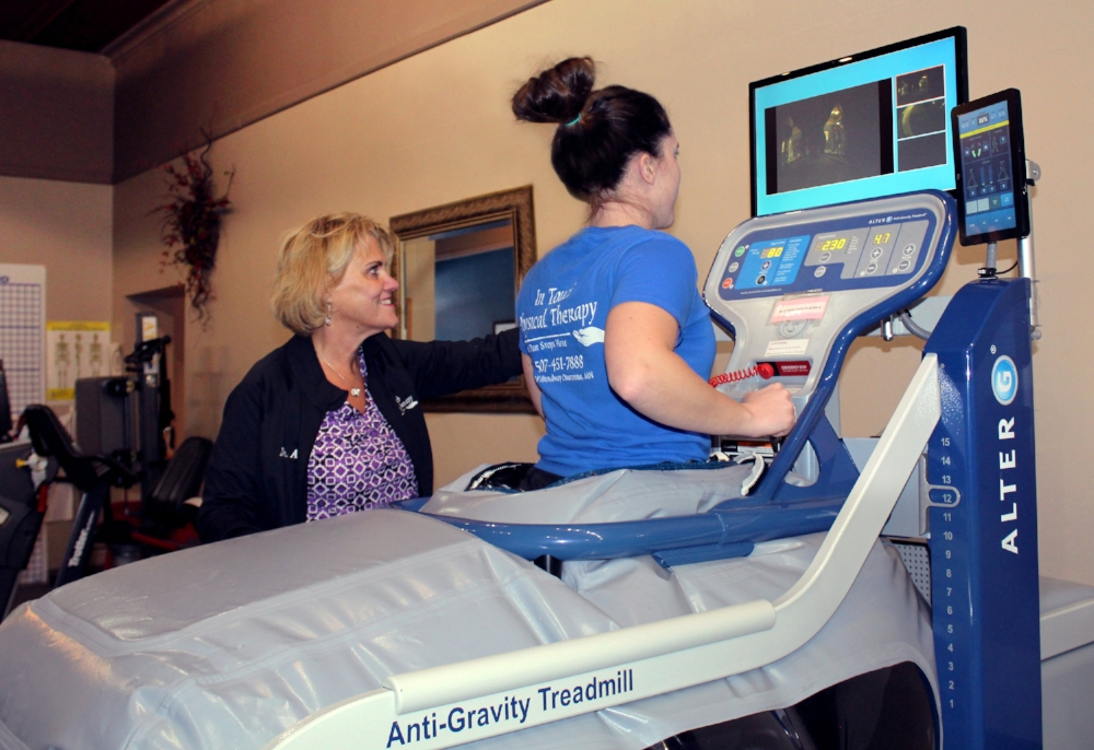 - Thanks to its precise unweighting technology, the AlterG Anti-Gravity Treadmill allows you to push your physical therapy rehabilitation and training further than ever before.