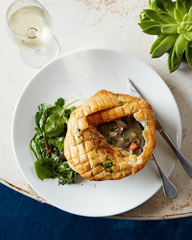 No. 29 Power Station West. On Friday's we feast. Autumn evenings call for warming plates of Roast Chicken, Mushroom and Tarragon Pie 🥧 #TheAddress #No29PowerStationWest