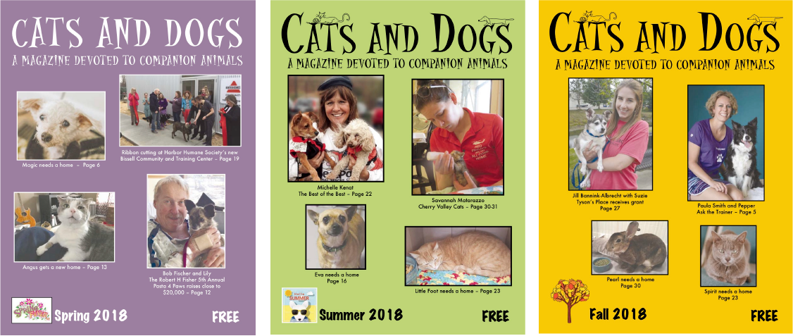 Our Magazine Issues - Our magazine is a labor of love, not just for the animals, but for all the people who love animals. Read some of the issues below.