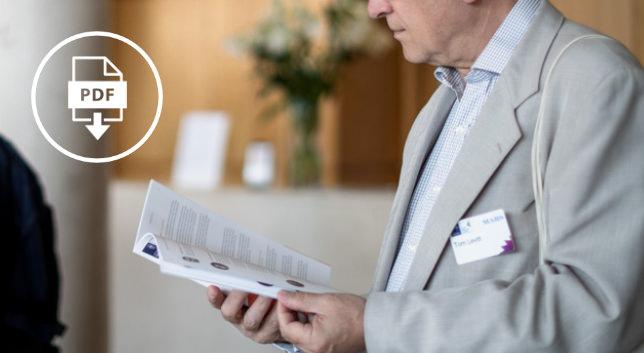 项目PDF - 查看运行时间表和演讲者简介