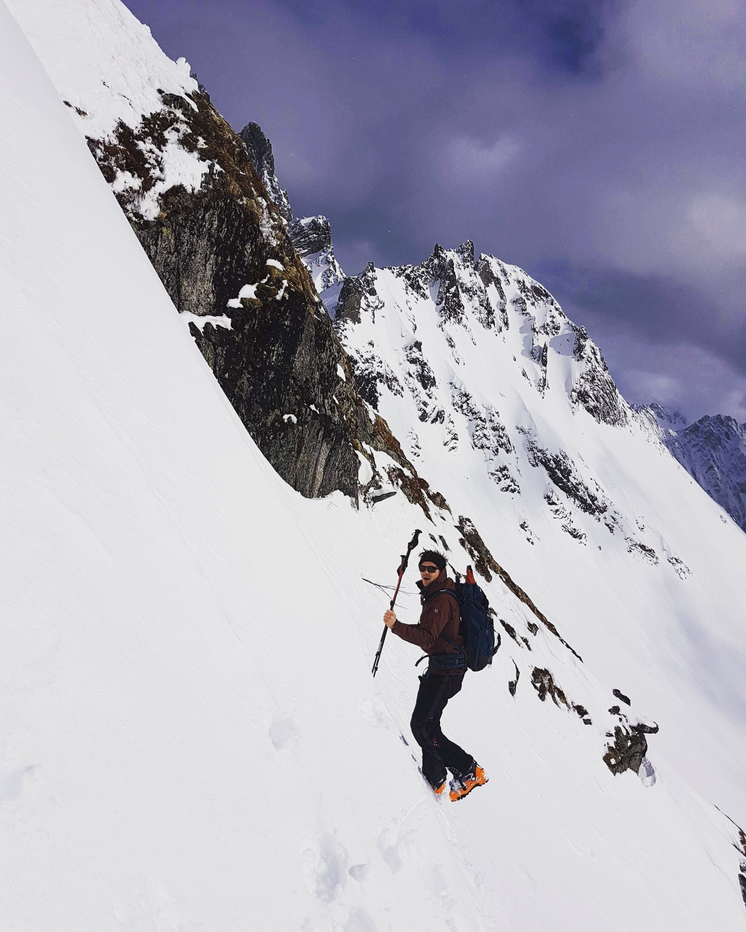 Vincent on a ski touring trip in Sunnmøre.